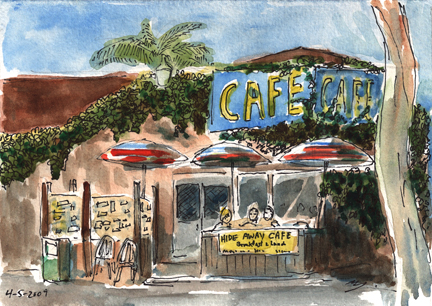 Hide Away Cafe in Solana Beach, California
