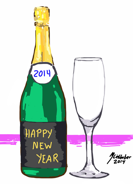 Happy 2014 (MIchael Liebhaber, Digital-iPad, 2014)
