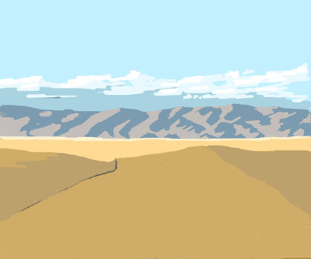 Pendleton, Oregon view (Michael Liebhaber, Digital-iPad, 2014)
