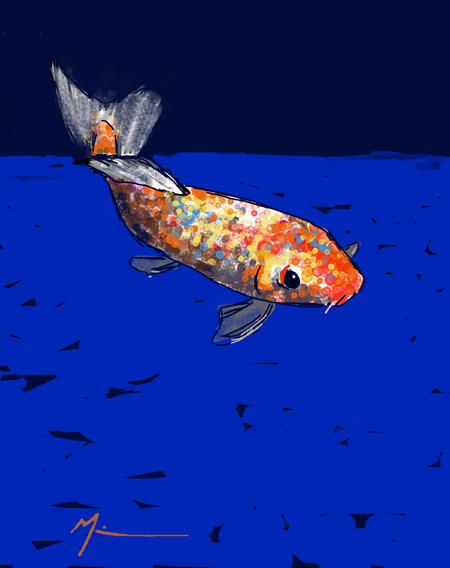My dream fish (Michael Liebhaber, digital-iPad, 2014)
