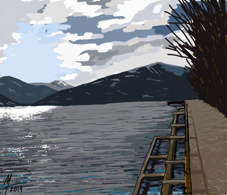 Zeller See (Lake Zell) Austria (Michael Liebhaber, digital-iPad, 2014)