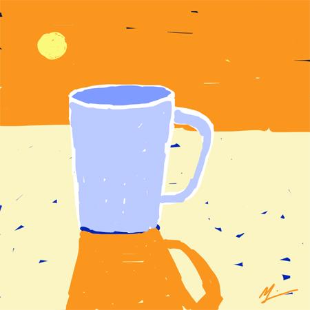 Coffee Sunrise (M. Liebhaber, digital-iPad, 2014)