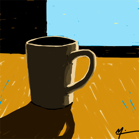 Early morning coffee (Michael Liebhaber, digital-iPad, 2014)