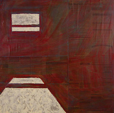 Room 1 (2005, Oil on newspaper and panel)
